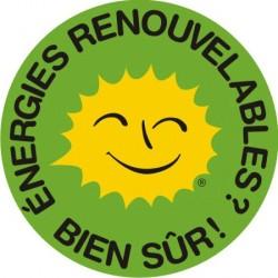 """Autocollant """"énergies renouvelables ? bien sûr !"""""""