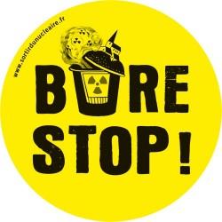 Autocollant BURE STOP !