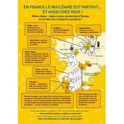 """Lot de 10 tracts """"Nucléaire, de la mine aux déchets..."""" Rhône-Alpes"""