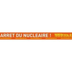 """Lot de 2 Autocollants -spécial vélo- """"Arrêt du nucléaire"""""""
