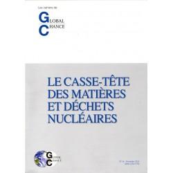 """Les cahiers de Global Chance """"le casse-tête des matières et déchets nucléaires"""""""