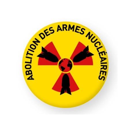 """Badge """"Abolition des armes nucléaires"""" (4,5 cm)"""