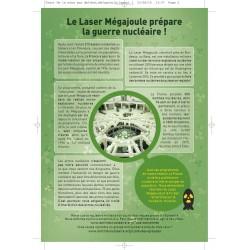 """Lot de 10 tracts """" Nucléaire, de la mine aux déchets..."""" Mégajoule"""