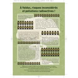 """Lot de 10 tracts """" Nucléaire, de la mine aux déchets..."""" Valduc"""