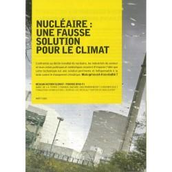 """Lot de 10 dépliants """"Nucléaire : une fausse solution pour le climat"""""""
