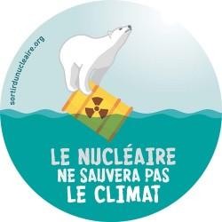 """Autocollant """"Le nucléaire ne sauvera pas le climat"""""""