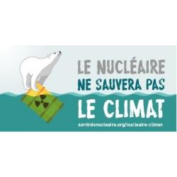 """Lot de 10 autocollants papier """"Le nucléaire ne sauvera pas le climat"""""""