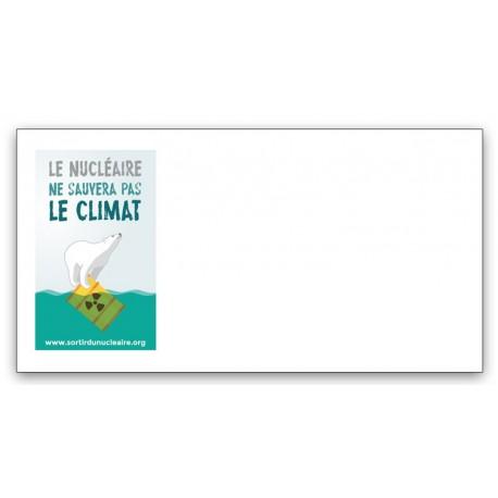 """Lot de 40 enveloppes """"Le nucléaire ne sauvera pas le climat"""""""