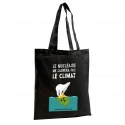 """Sac shopping noir """"Le nucléaire ne sauvera pas le climat"""""""