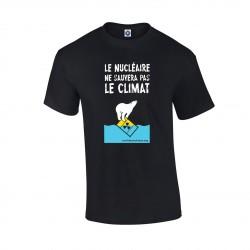 """T-shirt noir """"Le Nucléaire ne sauvera pas le climat"""""""