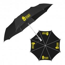 """Parapluie noir PET recyclé """"Nucléaire STOP !"""""""