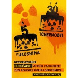 "Affiche ""Fukushima 5 ans, Tchernobyl 30 ans"""