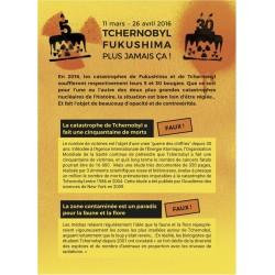 "Lot de 10 tracts ""Tchernobyl, Fukushima. Plus jamais ça!"""