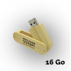 Clé USB Bambou ''Nucléaire STOP !'' 16Go