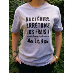 """T-shirt """"Nucléaire, arrêtons les frais !"""" Modèle unisexe"""
