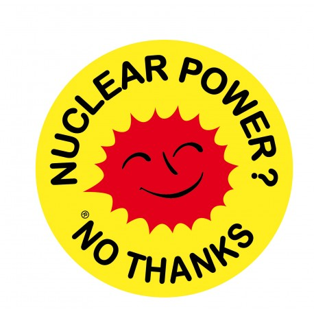 "Autocollant ""Nuclear power ? No thanks"""