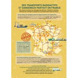 """Lot de 10 tracts """" Nucléaire, de la mine aux déchets..."""" Transport"""