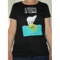 """T-SHIRT """"Le nucléaire ne sauvera pas le climat"""" Modèle femme"""
