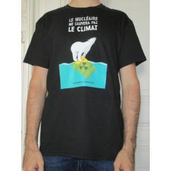 """T-SHIRT """"Le nucléaire ne sauvera pas le climat"""" Modèle homme"""