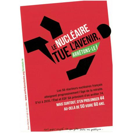 """Lot de 10 tracts """"Le nucléaire tue l'avenir"""""""