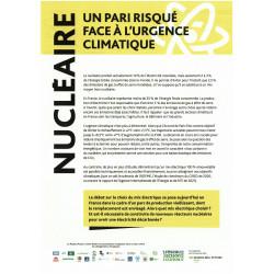 """Lot de 5 tracts """"Nucléaire, un pari risqué face à l'urgence climatique"""""""