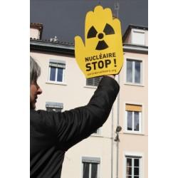 """Main """"NUCLÉAIRE STOP !"""" (le lot de 5 ex)"""