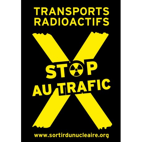"Lot de 10 autocollants papier ""STOP TRANSPORT"""