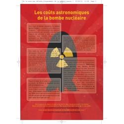 """Lot de 10 tracts """" Nucléaire, de la mine aux déchets..."""" Financement de la bombe"""