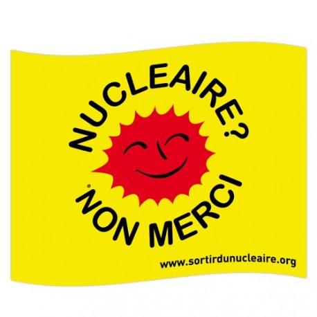 """Drapeau """"nucléaire, non merci !"""" Petit modèle"""