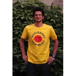 """T-shirt """"NUCLÉAIRE ? NON MERCI !"""" Modèle homme"""