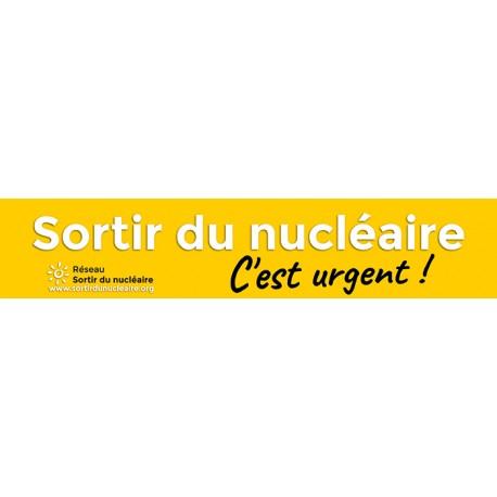 """Banderole """"Sortir du nucléaire  C'est urgent !"""""""