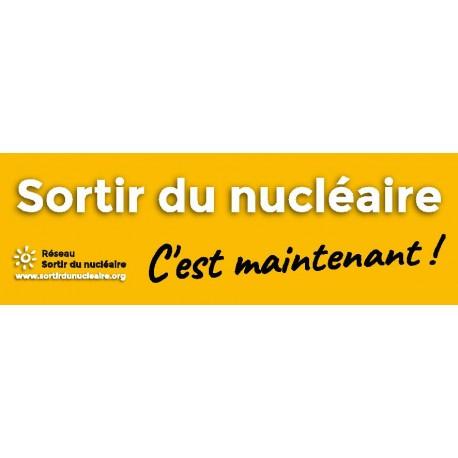 """Lot de 10 autocollants papier """"Sortir du nucléaire c'est maintenant !"""""""