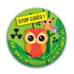 "Autocollant ""Stop CIGÉO !"""