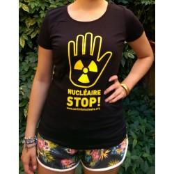 """T-shirt """"NUCLÉAIRE STOP !"""" Modèle femme"""
