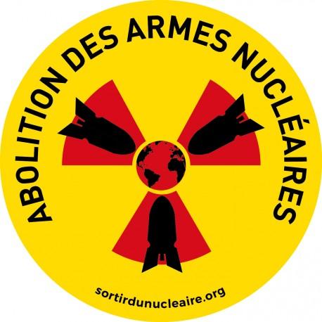 """Autocollant """"Abolition des armes nucléaires"""""""