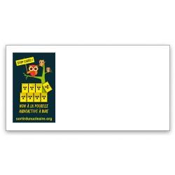 """Lot de 40 Enveloppes illustrées """"Stop CIGÉO !"""""""