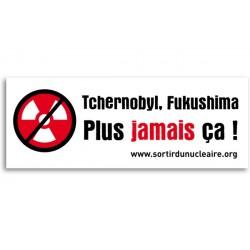 "Lot de 5 autocollants ""Tchernobyl, Fukushima, plus jamais ça"""