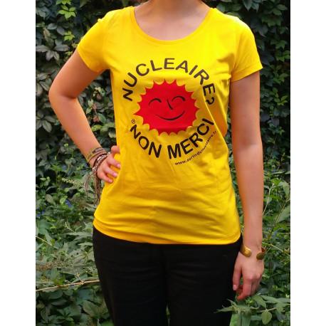 """T-shirt """"NUCLÉAIRE ? NON MERCI !"""" Modèle femme"""