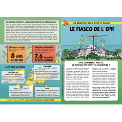 "Lot de 10 tracts ""Le fiasco de l'EPR"""