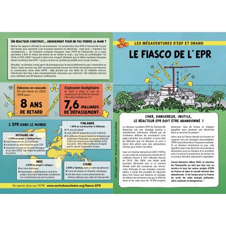 """Lot de 10 tracts """"Le fiasco de l'EPR"""""""