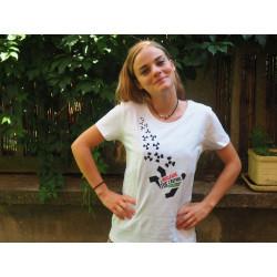 """T-shirt """"Le nucléaire tue l'avenir"""" Modèle femme"""
