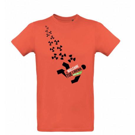 """T-shirt """"Le nucléaire tue l'avenir"""" Modèle homme"""