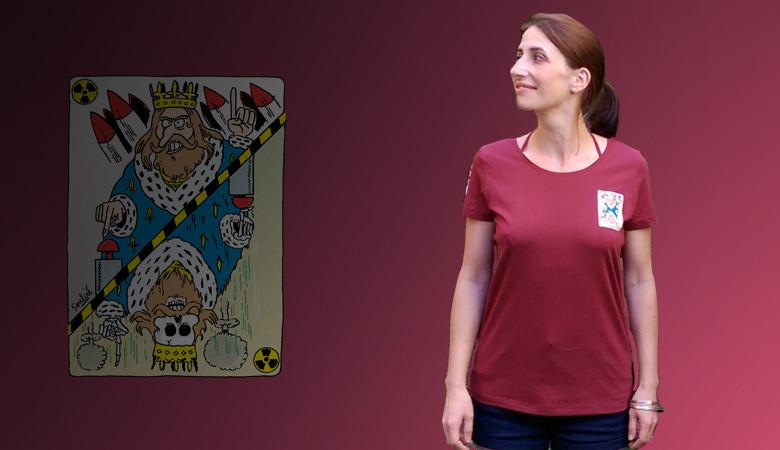 """T-shirt """"La dissuasion nucléaire, c'est du bluff"""""""